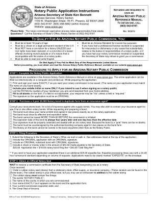 Az Notary Public Application Form