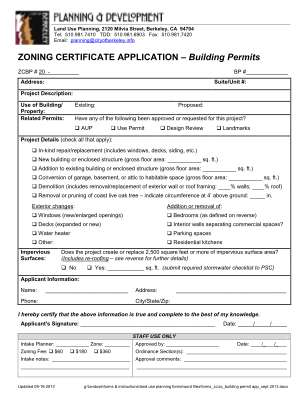Zoning Certificate Application Cityofberkeley