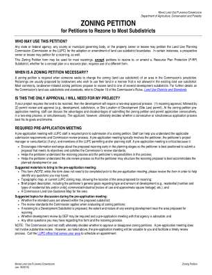 Zoning Petition Form Maine
