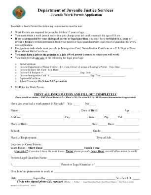 Work Permit Forms