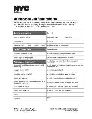 Scaffolding Check List Fill Formet