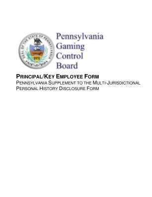 Pa Gamining Control Board Principalkey Employee Form