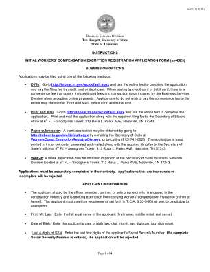 Workers Compensation Exemption Form Michigan 2013 2019
