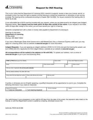 Wa Dol Hearing Dui Indigent 2012 Form