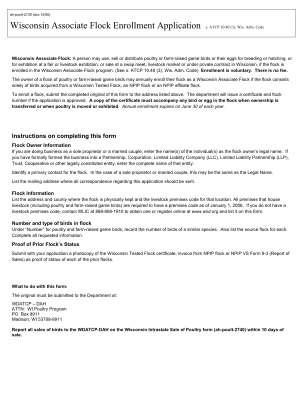 Wisconsin Associate Flock Enrollment Form