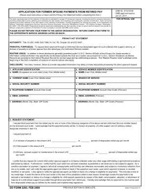 Dd Form 2293 2008 2019