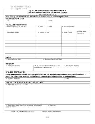 Uspacom Form 5053 2010 2019