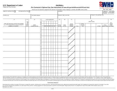 Certified Payroll Forms