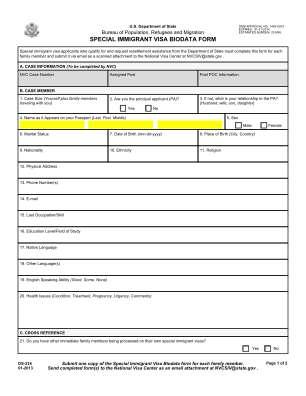 Online Bio Data Form 2013