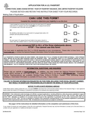 Where To Send Ds 5504 2016 2019 Form