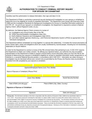 Ds 7601 Form