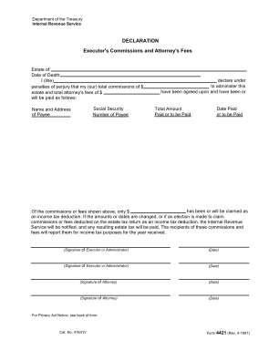 Irs Form 4421