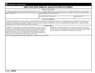 Form 4676a