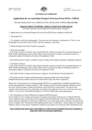 Australian Passport Application Form
