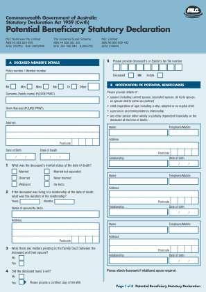Statutory Declaration Form Wa