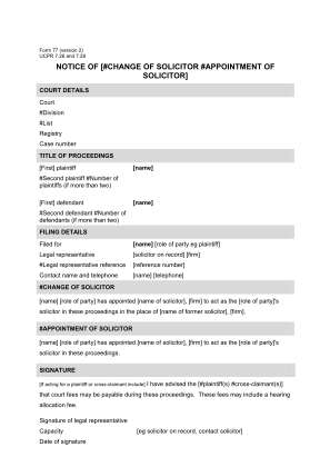 Ucpr Form 77 Nsw