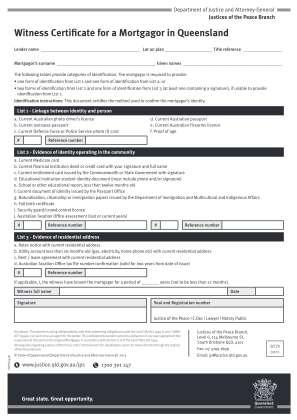 Witness Certificate
