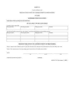 Ontario Court Form 74 3
