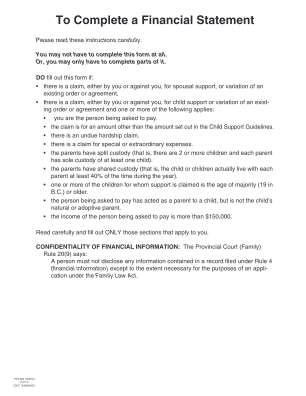 Financial Statement Form 4