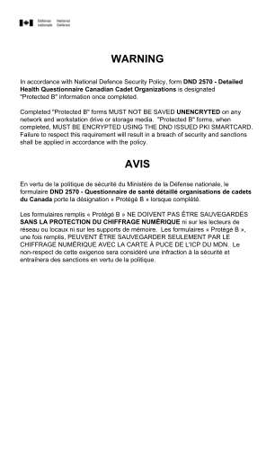 Warning Avis Niagara Sea Cadets Grilse