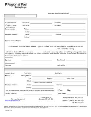 Water Bill Form 2006