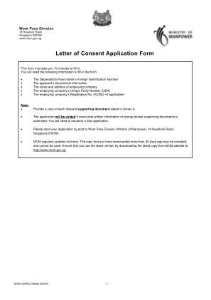 Letter Of Consent Application Form Pdf