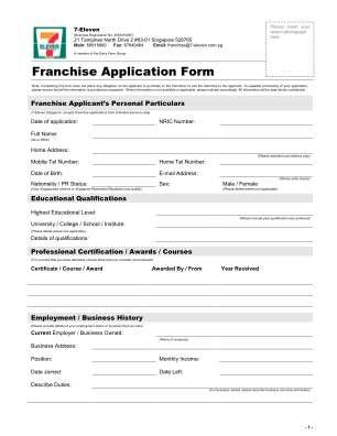 Online Franchise Application Form