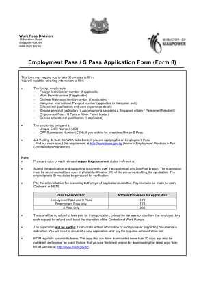 Mom Form Application 2014 2019