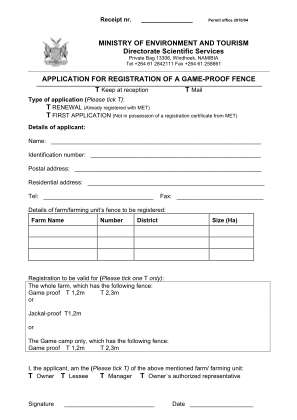 Game Proof Fence Registration Bapplicationb Ministry Of Environment Bb