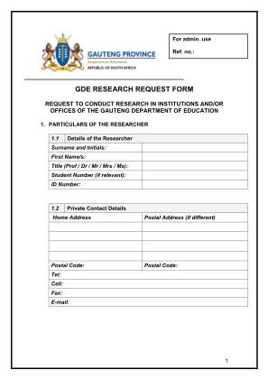 Gde Research Form