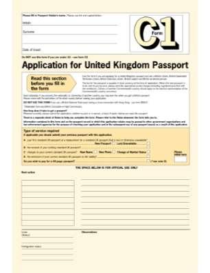 Where To Obtain Form C1 For Renewing British Passport