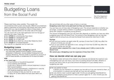 Budgeting Loan Form Pdf