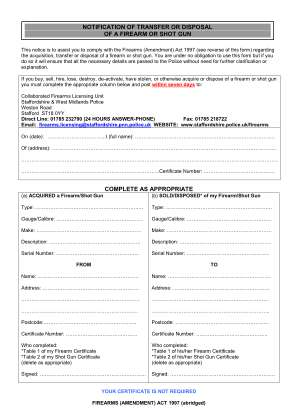 How Do I Add Shotgun Let On Hire On My Firearm License West Mercia Police Form