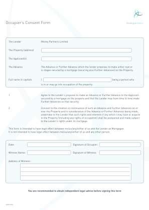 Occupieramp39s Consent Form Knight Funding Knightfunding Co