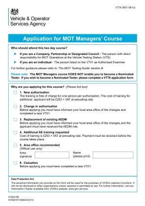 Mot Vt79 Form 2013