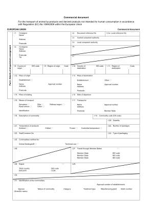 Commercial Document Animal By Products Form