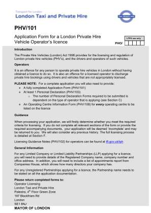 Phv 101 Form