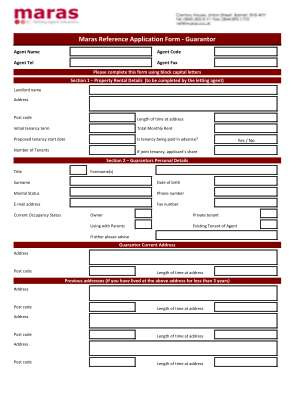 Maras Reference Form