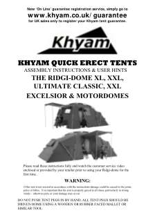 Khyam Ridgi Dome Xl Instructions Form