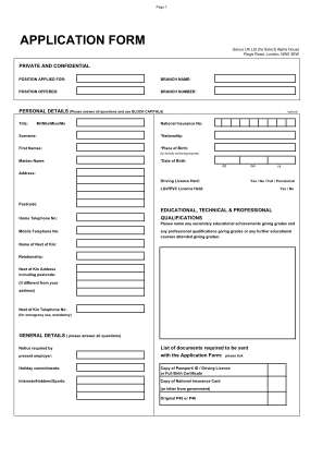 Select Fashion Application Form