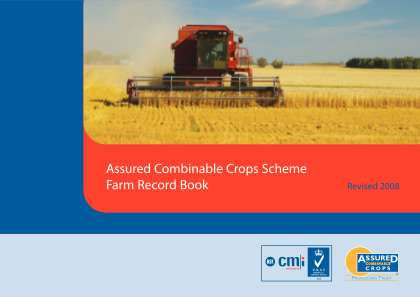 Assured Combinable Crops Farm Record Book Form