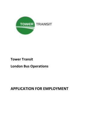 Tower Transit Application Form