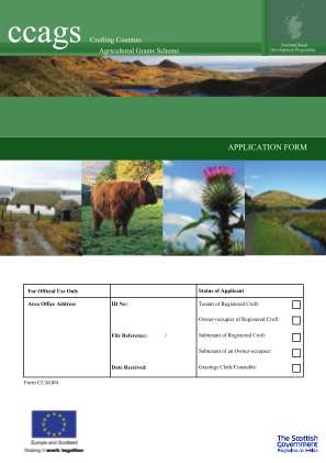 Ccags Crofting Counties Scottish Government Scotland Gov