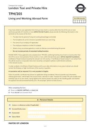 Apply Tph205 Form