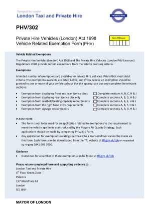 Phv302 Form