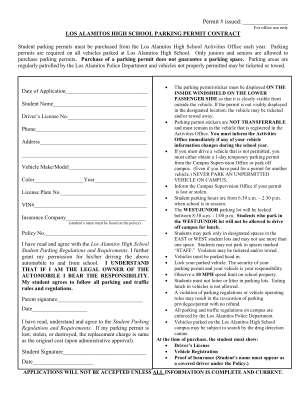 Los Alamitos High School Parking Bpermitb Contract Losal