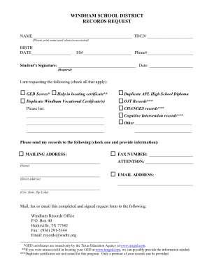 Windham School District Ged Form