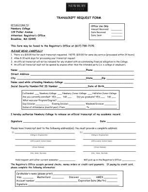 Newbury Colege Form
