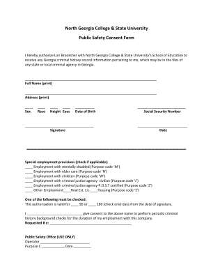 Background Consent Form