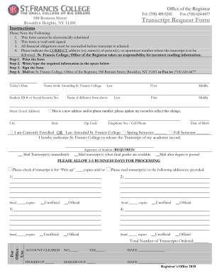 Corinthian Colleges Transcript Request Form